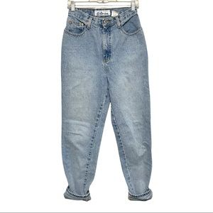Express Blues Vintage Women's High Rise Mom Jeans
